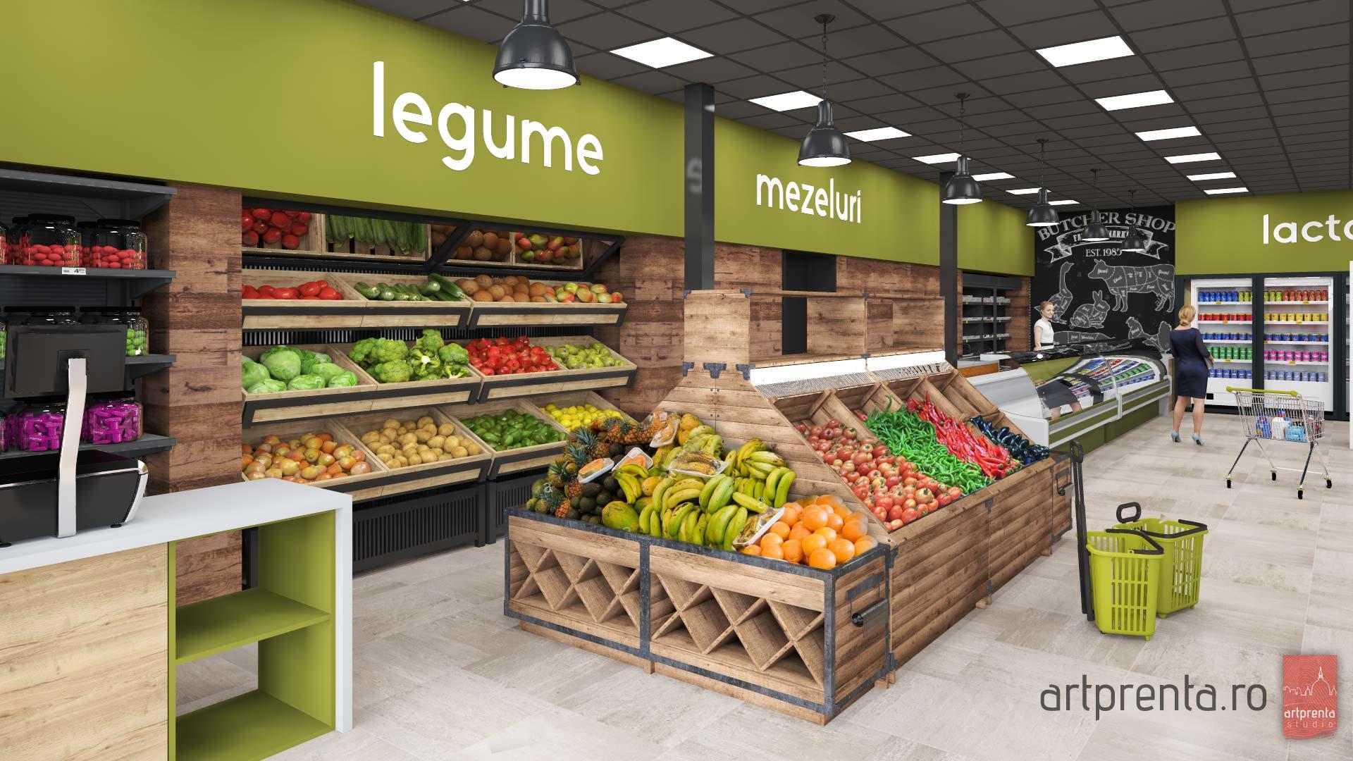 Design interior si concept refatadizare supermarket Trei G Bârsei – Oradea